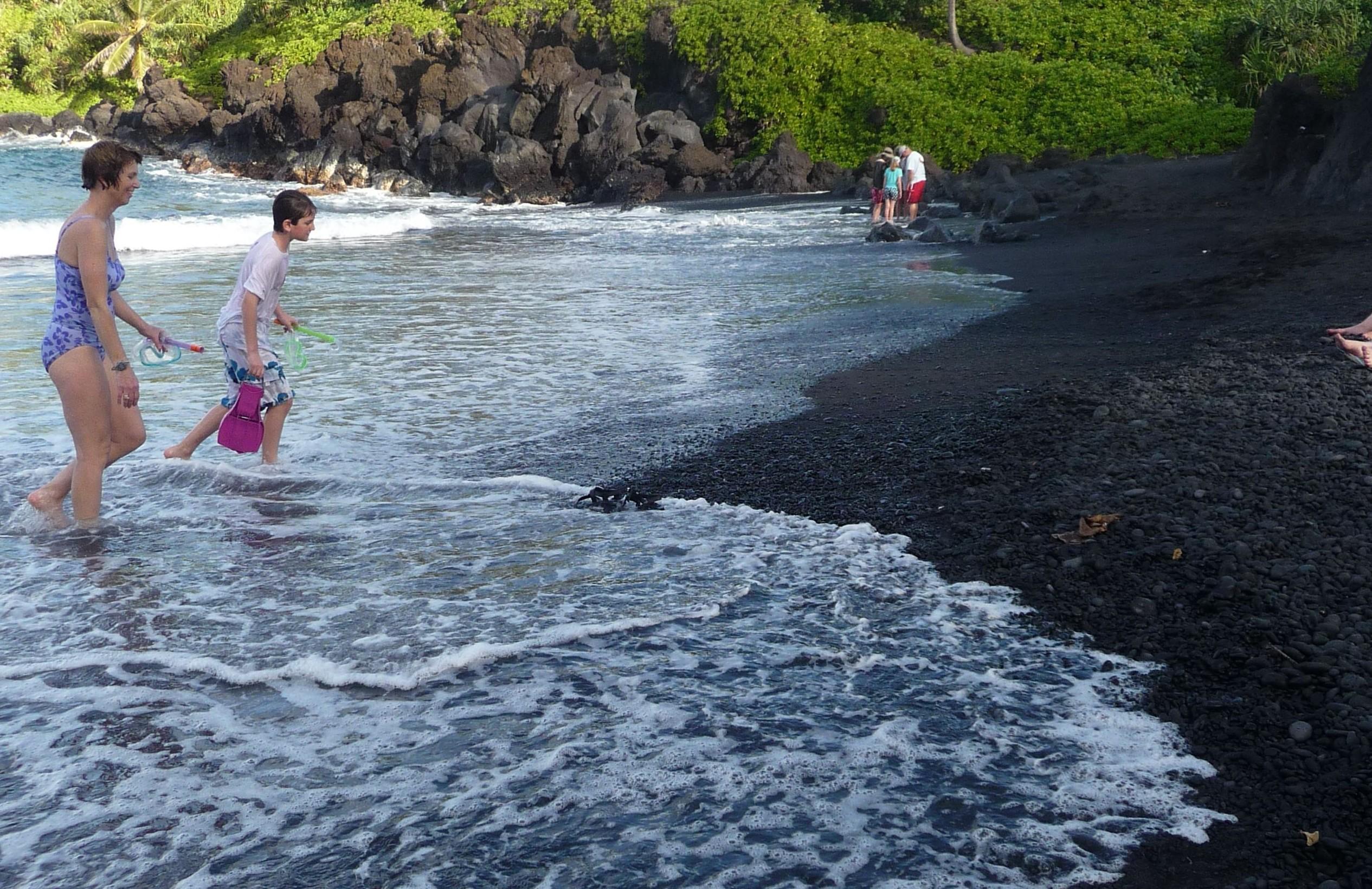 Black Sand Beach Maui Kihei Condo Rentals
